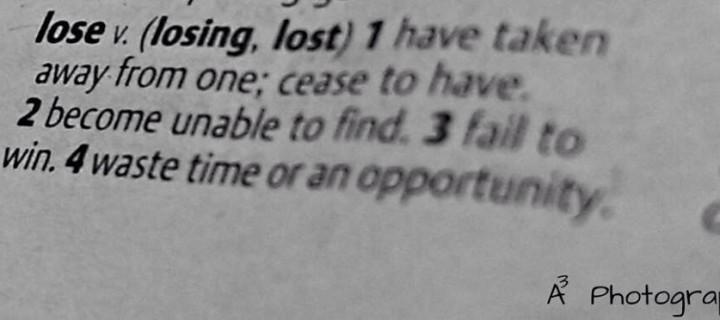 Lost…